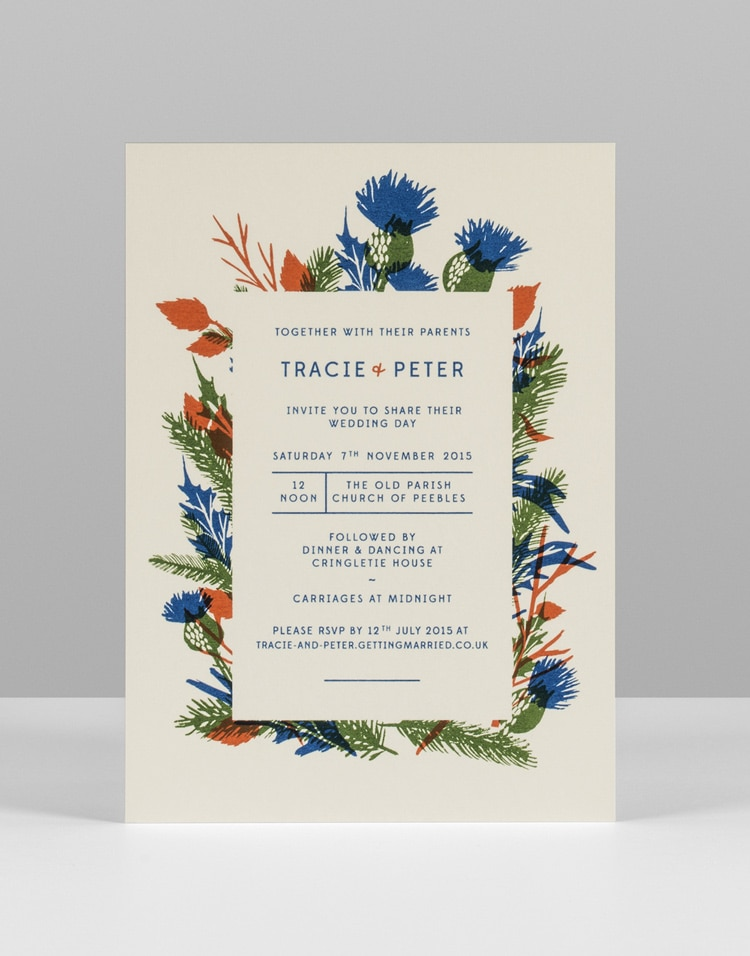 Pirrip Press screen printing printed wedding invitations invite retro vintage