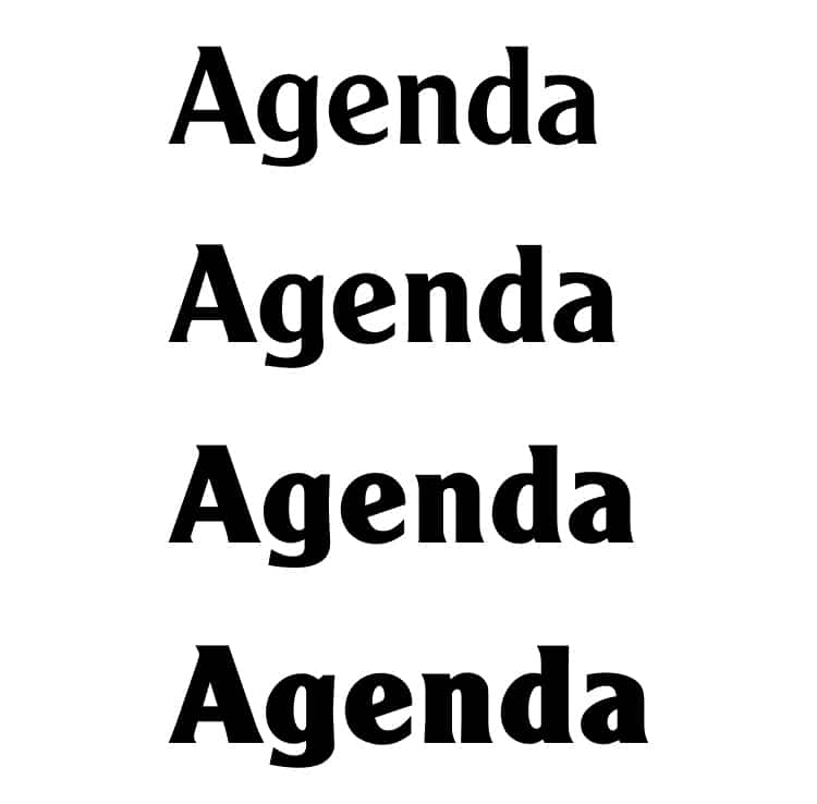 vintage retro authentic fonts era retro seventies 1970s agenda cooper black