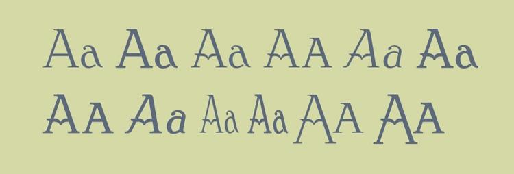 vintage retro authentic fonts era art nouveau clementhorpe