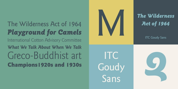 vintage retro authentic fonts era art nouveau gill sans alternative goudy sans