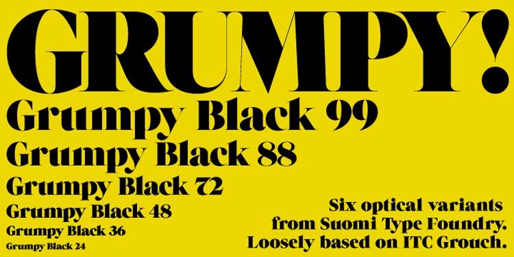 vintage retro authentic fonts era retro seventies 1970s grumpy