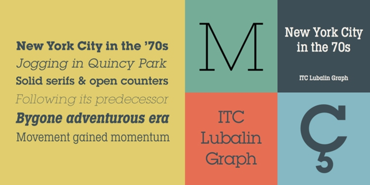 vintage retro authentic fonts era retro seventies 1970s itc lubalin graph