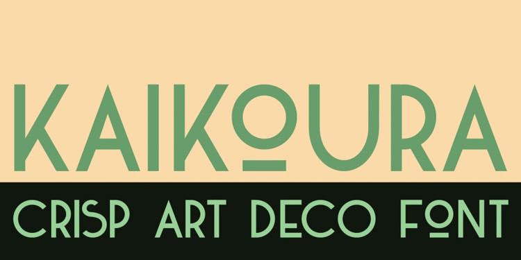 vintage retro authentic fonts era art deco twenties kaikoura sans serif
