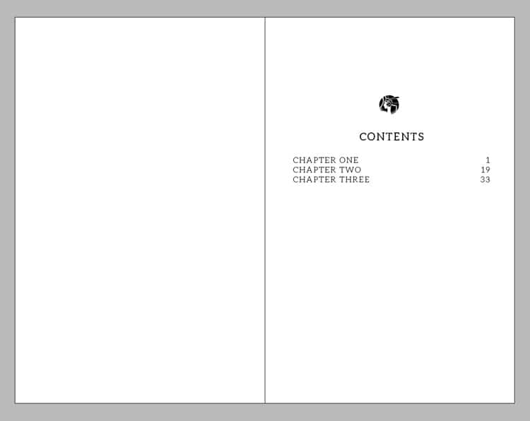 indesign table of contents TOC page numbers sections book design magazine design