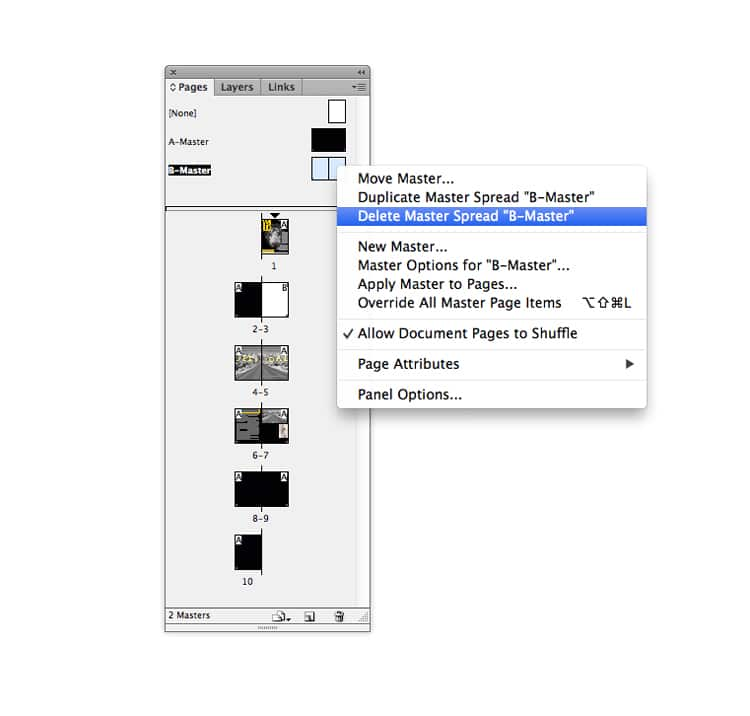indesign master pages masters magazine design