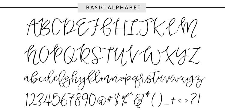 lettering hand-drawn modern calligraphic hand-lettered script fonts best free duckbite
