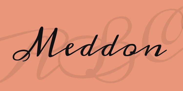 lettering hand-drawn modern calligraphic hand-lettered script fonts best free meddon