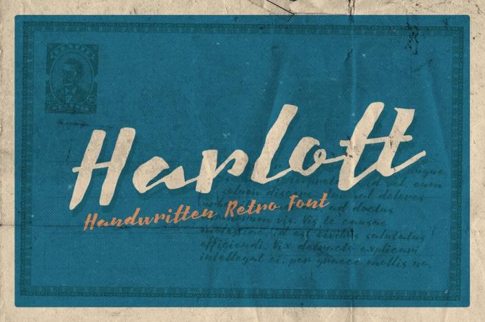 lettering hand-drawn modern calligraphic hand-lettered script fonts best free harlott