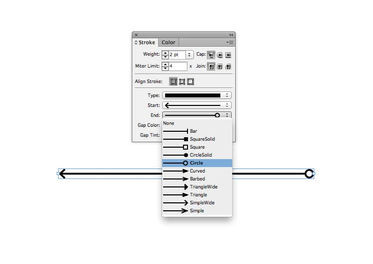indesign arrows stroke arrowhead