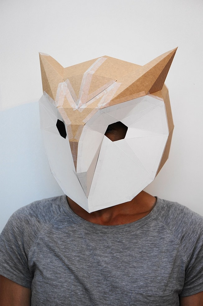 2017 graphic print design trends low poly masks print