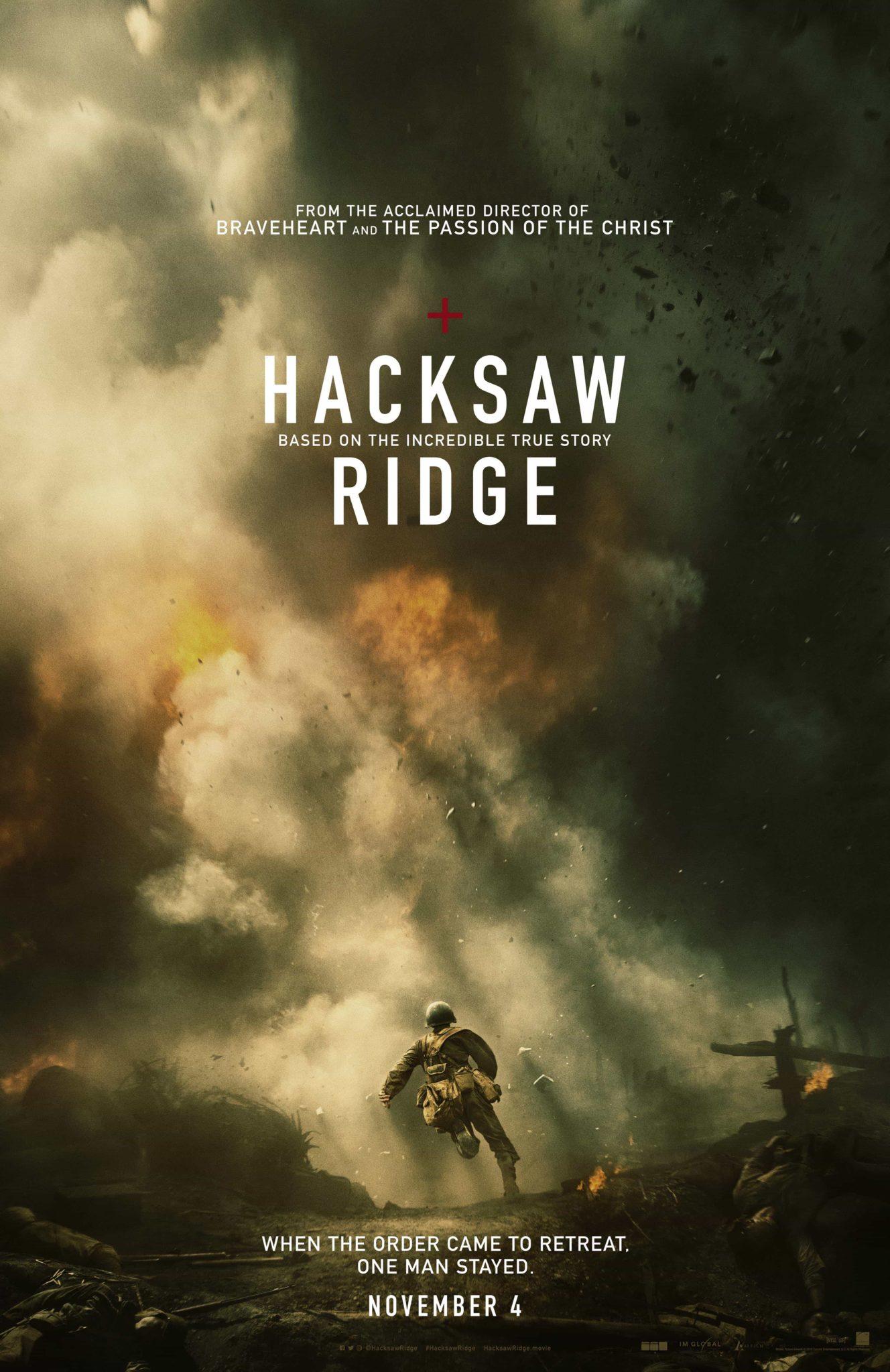 movie poster fonts typography typefaces design hacksaw ridge