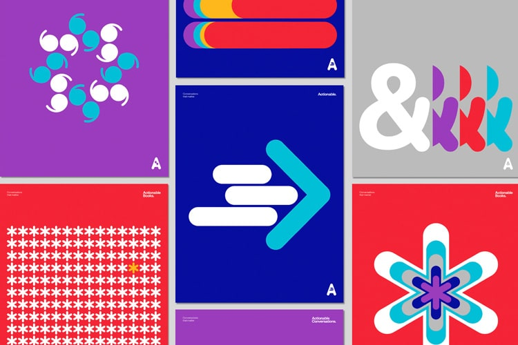 retro branding brand design brand identity mondrian primary colors bauhaus swiss school actionable