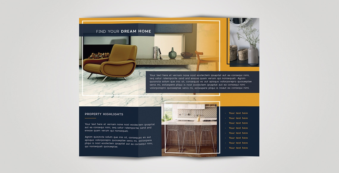 8 5x11 brochure template - tri fold brochure free indesign template