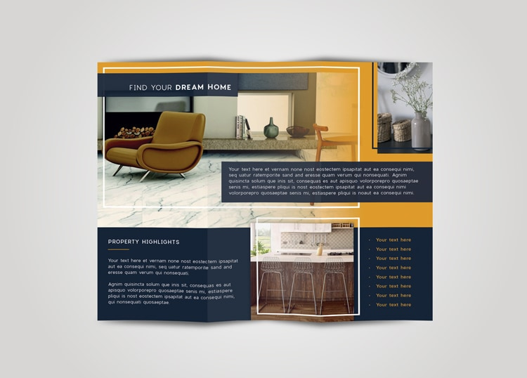 Tri Fold Brochure Free InDesign Template - Free indesign tri fold brochure templates