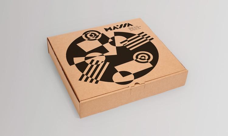 retro branding brand design brand identity mondrian primary colors bauhaus swiss school pizzeria massa restaurant logo