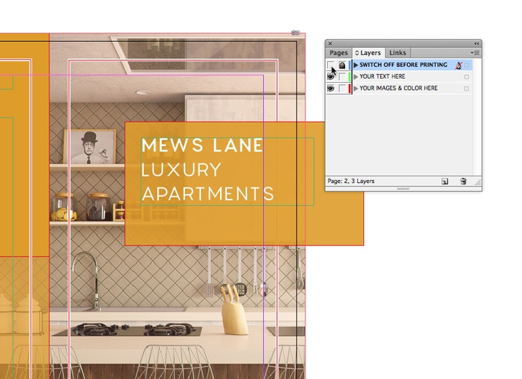 indesign templates layer