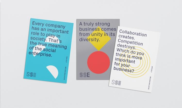 retro logo branding brand deign brand identity mondrian primary colors bauhaus swiss school sydney school of entrepreneurship