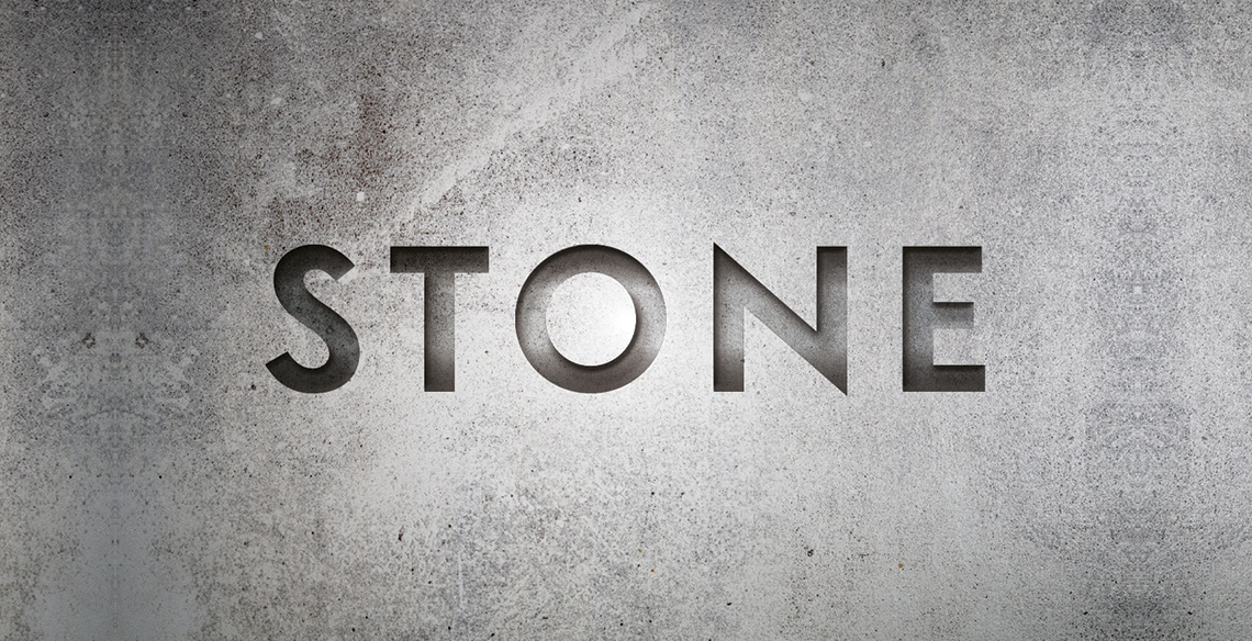 create a stone text effect in indesign
