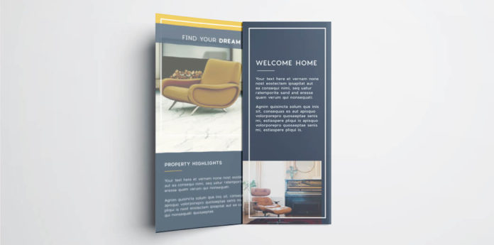Tri Fold Brochure Free InDesign Template - Real estate brochure templates