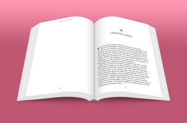 InDesign book template for novel. Inside pages. Typesetting template.