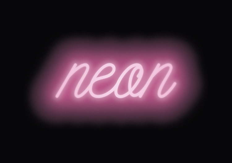 neon sign text effect glow light-up indesign typography