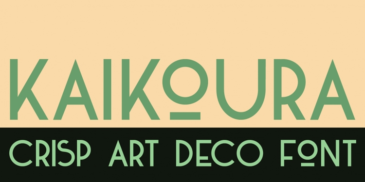 kaikoura art deco font best vintage fonts historical