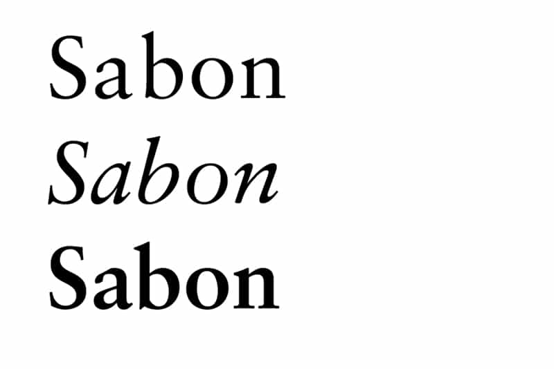 sabon font book design typesetting best fonts for books