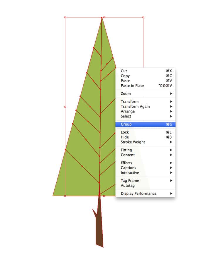 how to draw shapes illustrations in indesign group