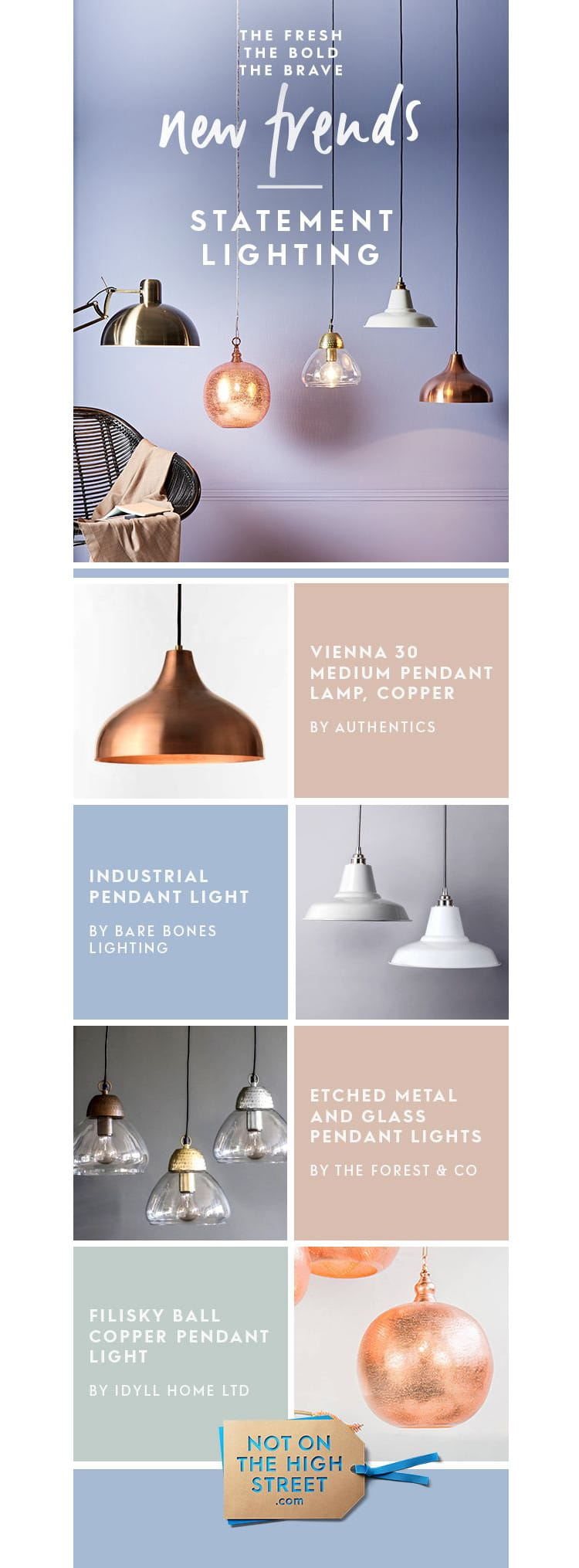 e-newletter email newsletter marketing design layout inspiration lighting home scandi calm not on the high street