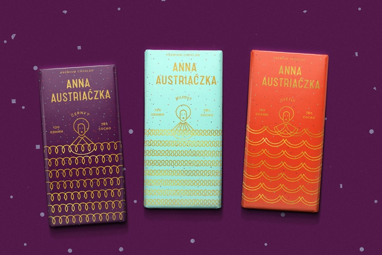 2018 graphic design print design trends line art packaging chocolate anna