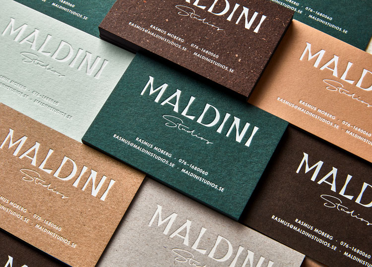 2018 graphic design print design trends texture maldini studio stationery business cards