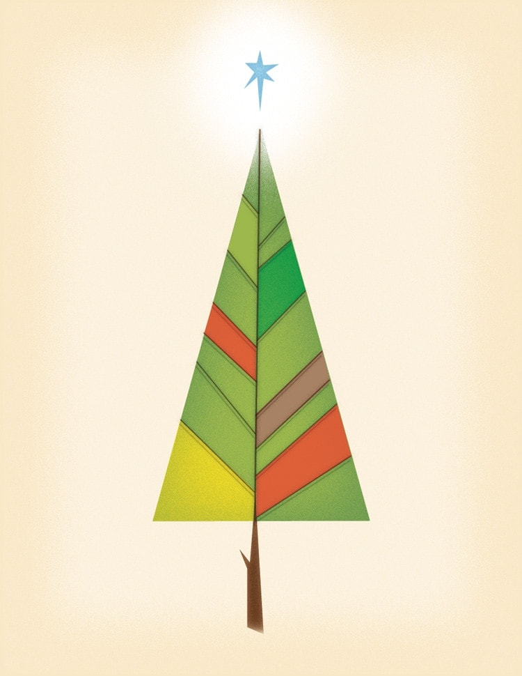 vector illustration shapes indesign tree