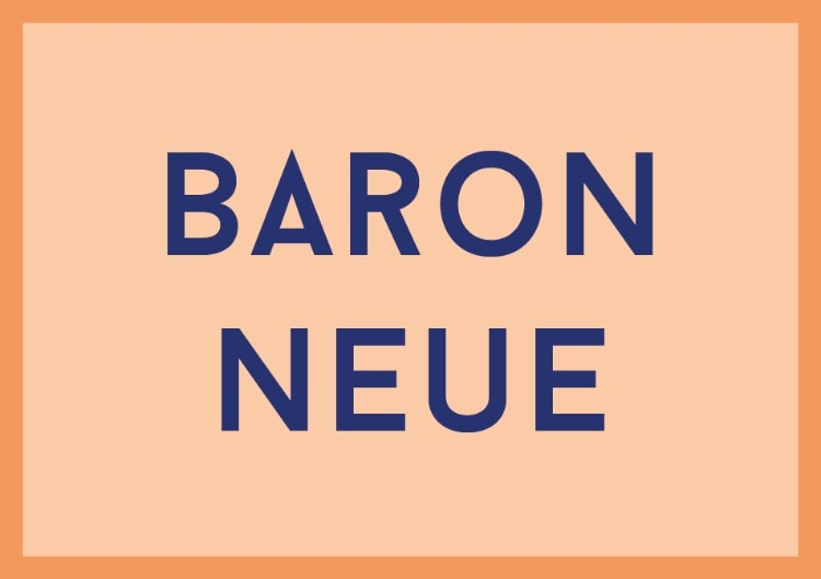 best free fonts dafont pro designers choice picks baron neue