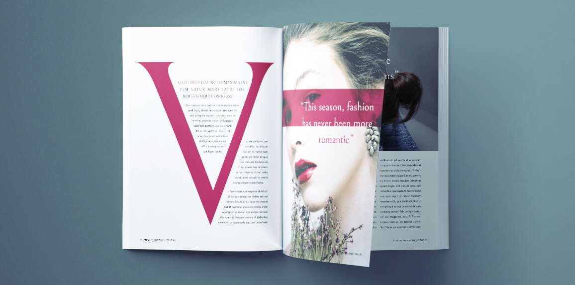 Beautiful Fashion Magazine Template for InDesign | Free ...