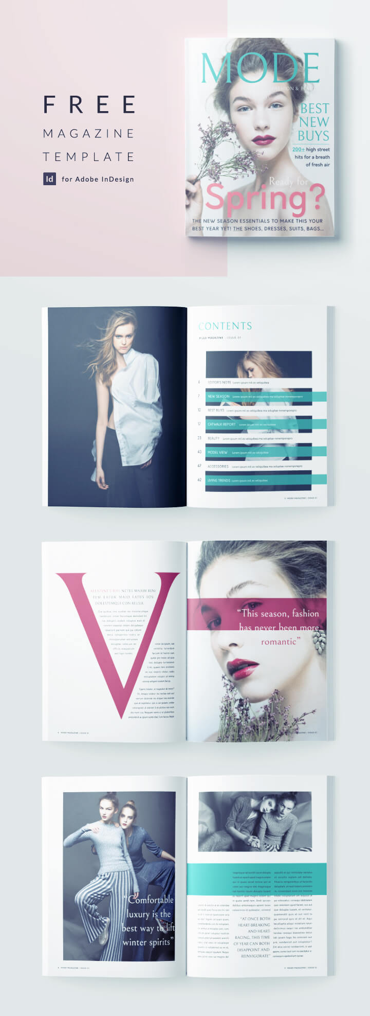 free fashion magazine template for indesign full magazine template