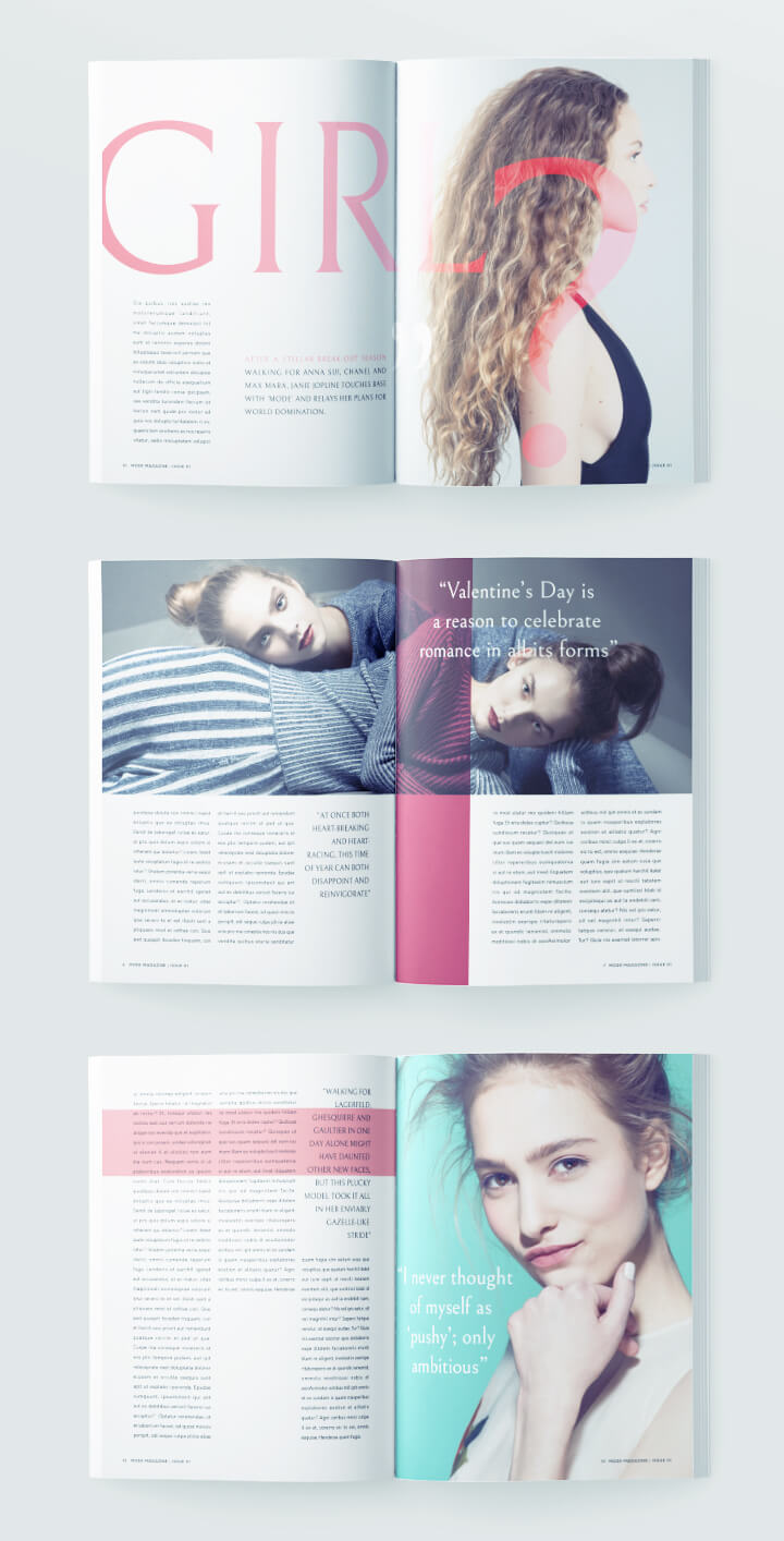 Beautiful Fashion Magazine Template For InDesign