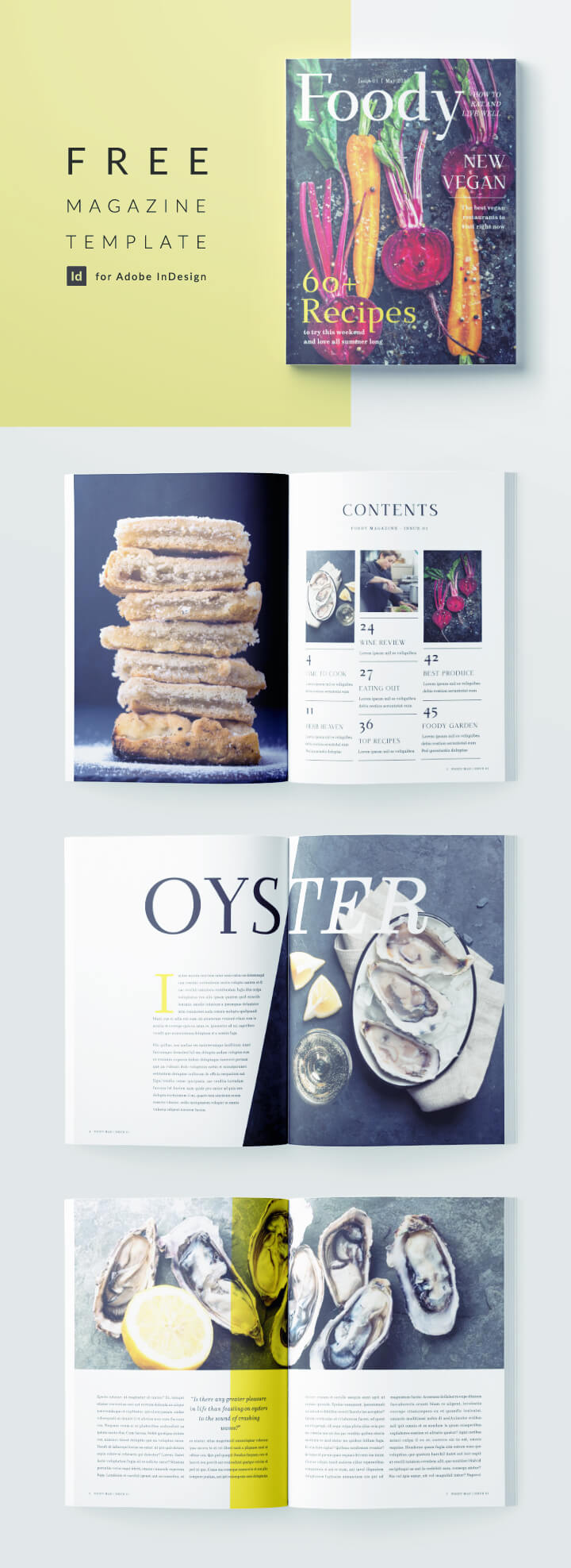 free magazine template modern food magazine 12 pages free download for indesign