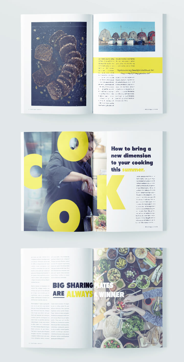 Stylish food magazine template for indesign free download for Magazine layout templates free download