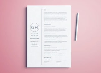 basic indesign resume template free