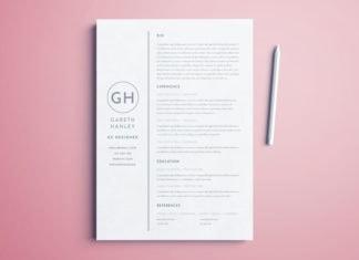 basic indesign resume template free