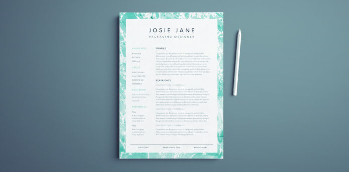 creative resume template for indesign - free resume layout template