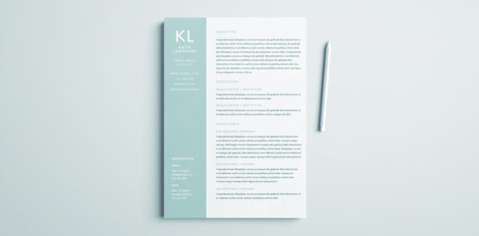 modern resume template for indesign