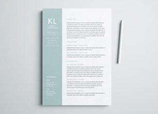 free modern resume template for indesign a4 and us letter size- free indesign templates