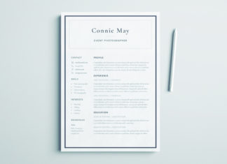Simple Resume Design - Perfect for Coroporate or Business Resume