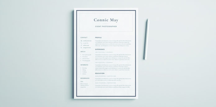 simple resume design perfect for coroporate or business resume