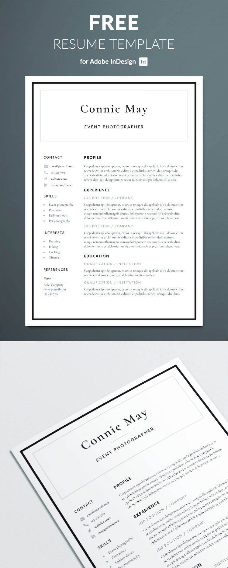 Simple Resume Template - Classic Corporate design - Free Download - Professional Design