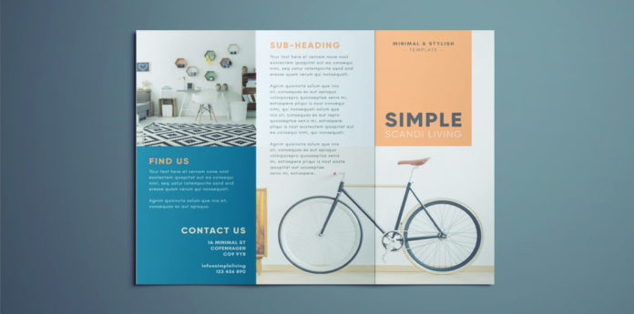 Simple Tri Fold Brochure Free InDesign Template - Template brochure free