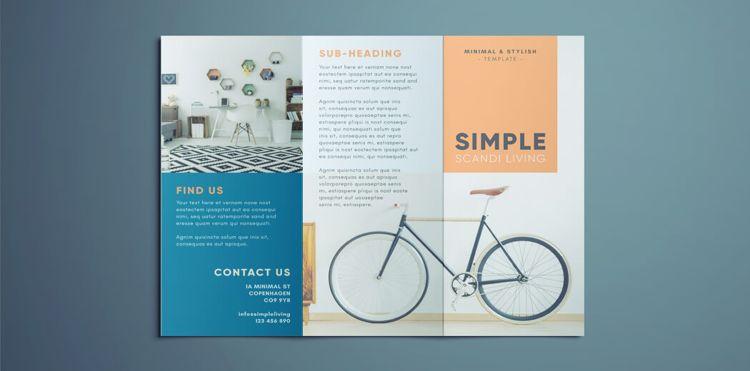 3 Fold Brochure Template | Simple Tri Fold Brochure Free Indesign Template