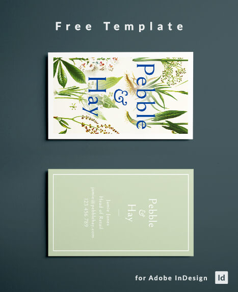 Vintage Business Card Design With Botanical Ilration For Fashion Or Natural Cosmetics Brand Free