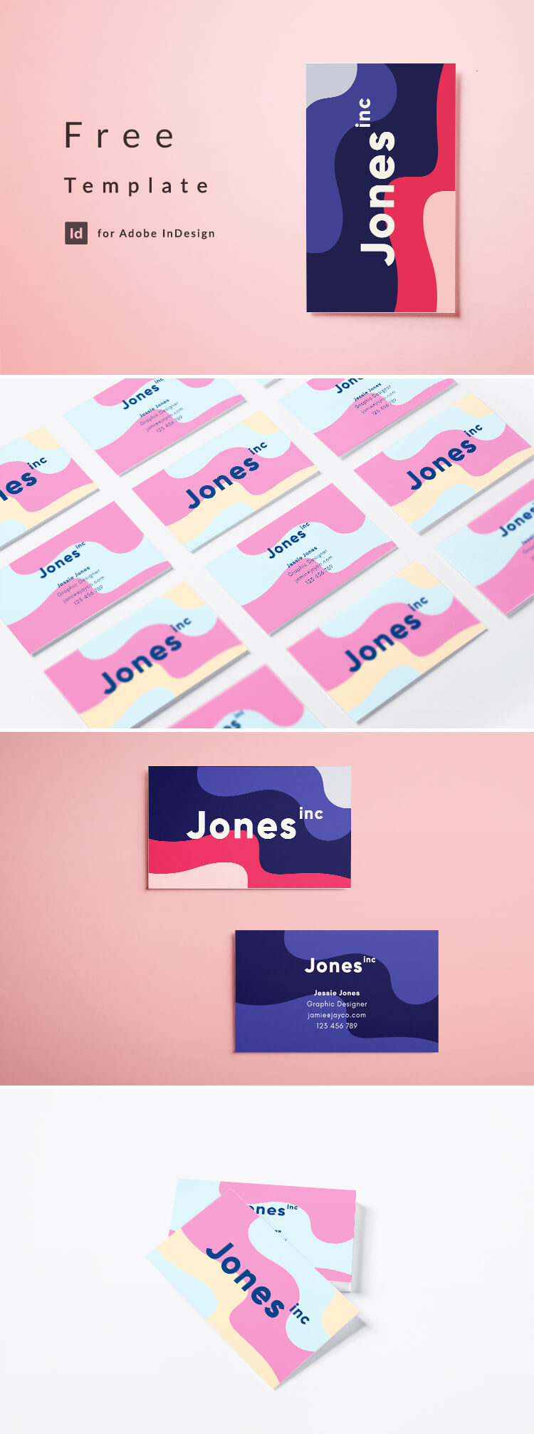 Creative business card template free download creative business card template wajeb Image collections